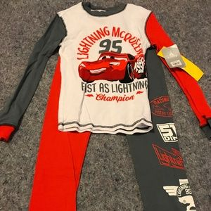 BNWT Boy's Lightning McQueen Sz.10 Disney Pajamas